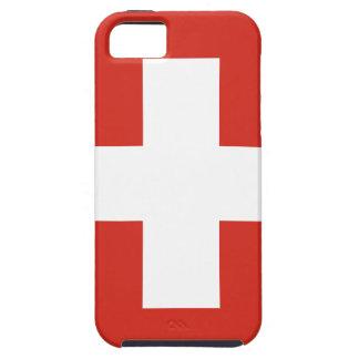 Vlag van Zwitserland - Matrijs Nationalflagge der Tough iPhone 5 Hoesje