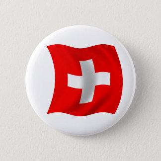 Vlag van Zwitserland Ronde Button 5,7 Cm