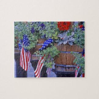 Vlaggen en Bloemen in Philipsburg Montana Puzzel