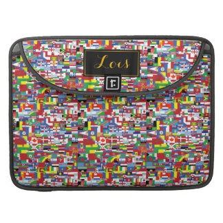 Vlaggen van Alle Naties MacBook Pro Sleeve
