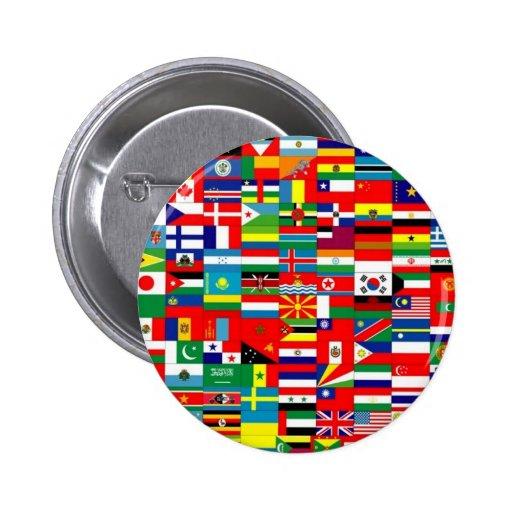Vlaggen van de wereld button zazzle - Home key van de wereld ...
