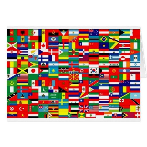 Vlaggen van de wereld kaart zazzle - Spiegelhuis van de wereld ...