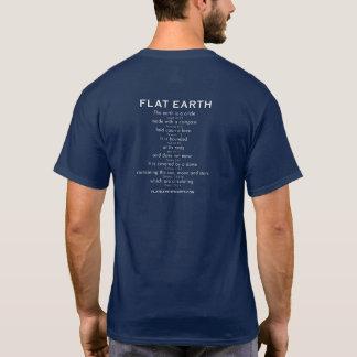 Vlakke GEBARSTEN Aarde -! met Heilige Schrift op T Shirt