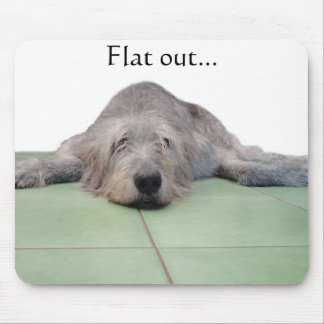 Vlakke Hond mousepad… Muismat