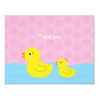Vlakte van de Eend Ducky van het meisje dankt de Kaart