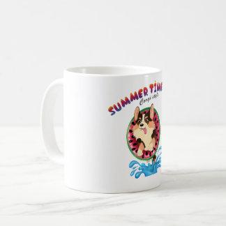 Vlam corgi op koffiemok