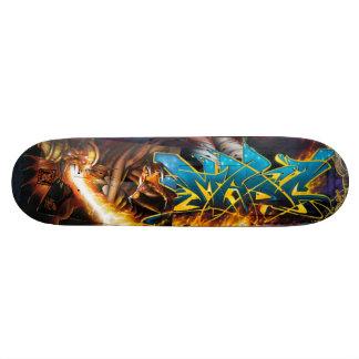 Vlam! in de Kerker van Durin - het Dek van de Skateboard Deck