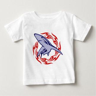 Vlammen en Haai Baby T Shirts