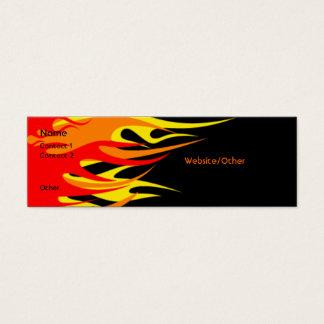 Vlammen Mini Visitekaartjes