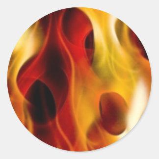 Vlammen Ronde Sticker