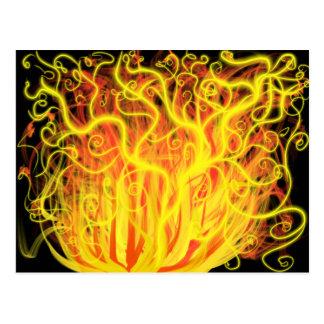 Vlammen van de Kunst van de verering de Oranjegele Briefkaart