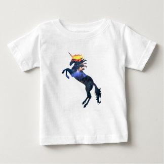 Vlammende eenhoorn baby t shirts