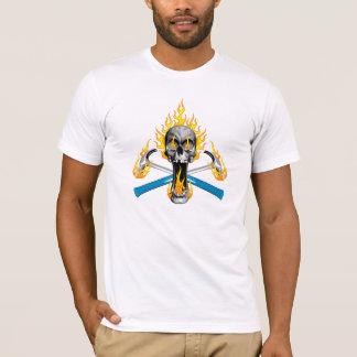 Vlammende Schedel en Hamers T Shirt