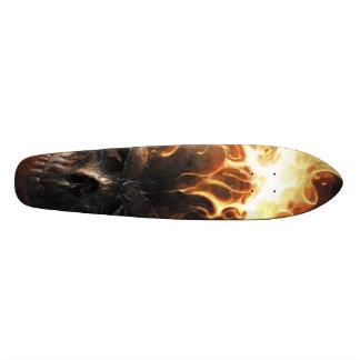 Vlammende schedel pattern1 20,0 cm skateboard deck