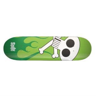 Vlammende Schedel Skateboard Deck