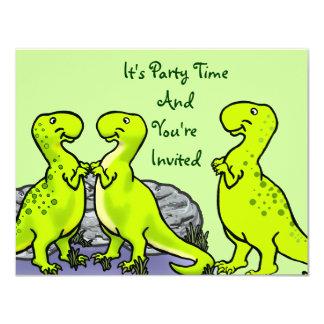 Vlek, de Dinosaurus 10,8x13,9 Uitnodiging Kaart