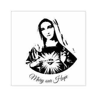 Vlekkeloos Hart van Mary onze Hoop Rubberstempel