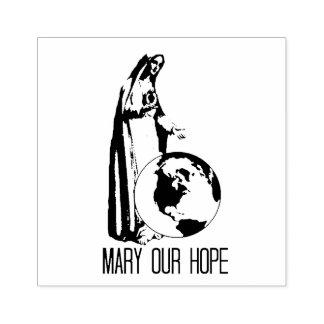 Vlekkelooze Mary onze Hoop Fatima Rubberstempel