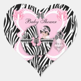 Vlekken van het Meisje van het Baby van het baby s Hartvormige Stickers