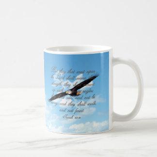 Vleugels als Eagles, de Christelijke Bijbel van Koffiemok