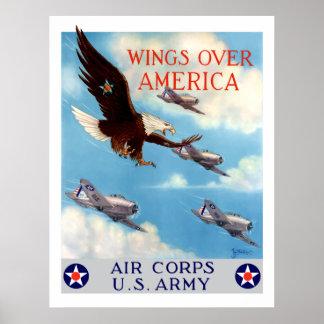 Vleugels over Amerika -- De Korpsen van de lucht Poster