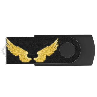 Vleugels van de Engel van Falln de Gouden Swivel USB 3.0 Stick