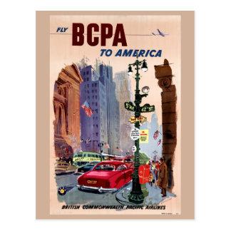 Vlieg BCPA aan het Vintage Herstelde Poster van Briefkaart