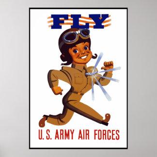 VLIEG -- De Luchtmacht van het leger -- Grens Poster