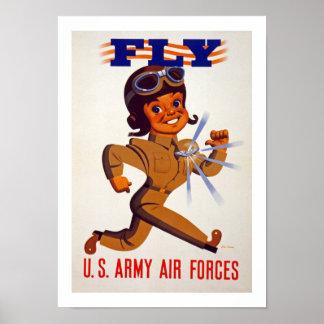 Vlieg - de Luchtmacht van het Leger van de V.S. Poster