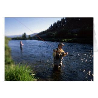 Vlieg die in Colorado vissen Wenskaart