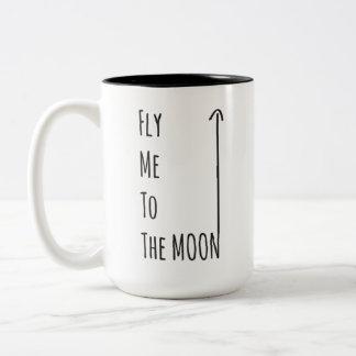 Vlieg me aan de Maan - de Vrije mok Nerd van het