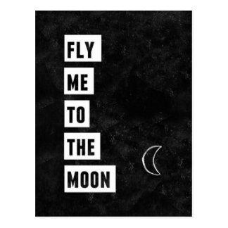 Vlieg me aan het Briefkaart van de Maan