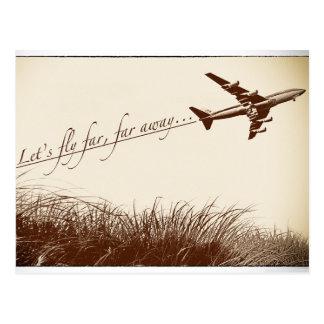 Vlieg veel, veel weg briefkaart