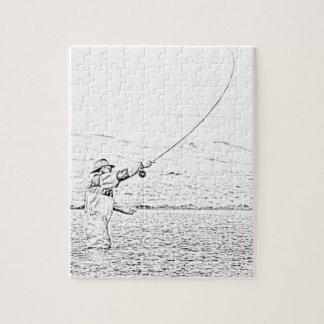vlieg visser legpuzzel