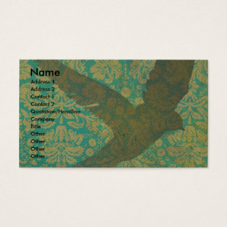 Vlieg, Vogel op het Digitale Art. van het Vintage Visitekaartjes