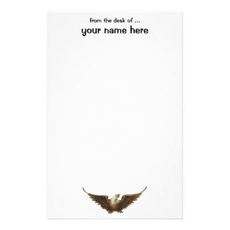 Vliegen van de Vogel van Eagle van het vintage Briefpapier