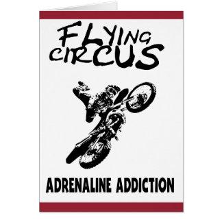 Vliegend Circus Wenskaart