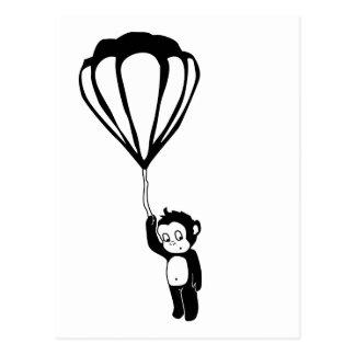 vliegende aap: hete luchtballon wens kaart