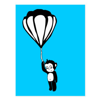 vliegende aap: hete luchtballon wenskaart