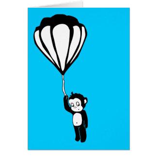 vliegende aap hete luchtballon wenskaarten