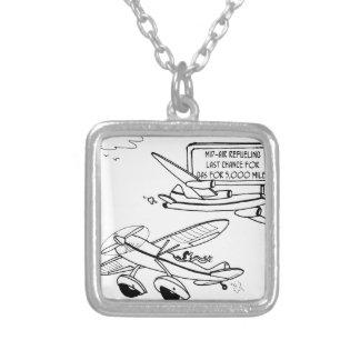 Vliegende Cartoon 3682 Zilver Vergulden Ketting