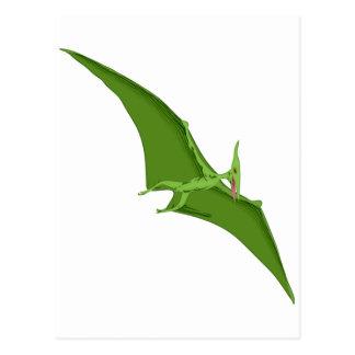 Vliegende Groene Pterodactylus Wenskaarten