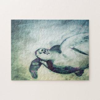 Vliegende Groene Schildpad | van het Zee Raadsel Legpuzzel