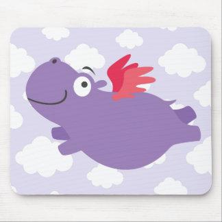 Vliegende Illustratie Hippo Muismat