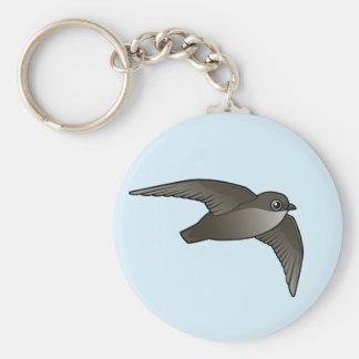 Vliegende Swift van de Schoorsteen Basic Ronde Button Sleutelhanger
