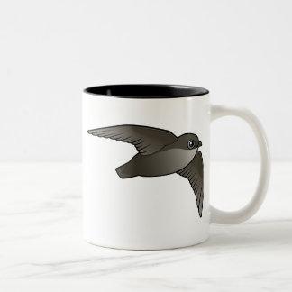 Vliegende Swift van de Schoorsteen Tweekleurige Koffiemok