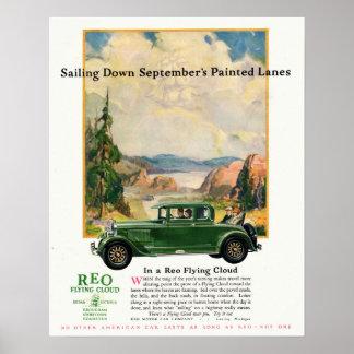 vliegende Wolk van de Auto REO van jaren '20 de Poster