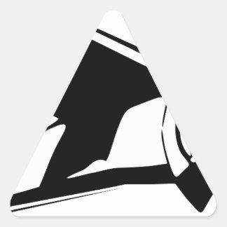 vliegtuig driehoekvormige sticker