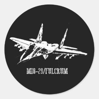 Vliegtuig mig-29 de sticker van het Steunpunt