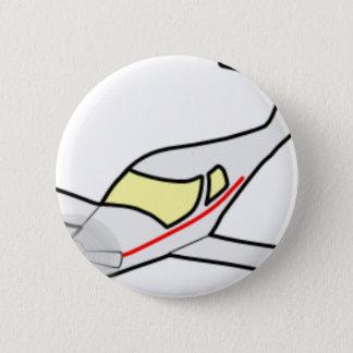Vliegtuig Ronde Button 5,7 Cm